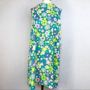 Vintage 60s floral shift dress